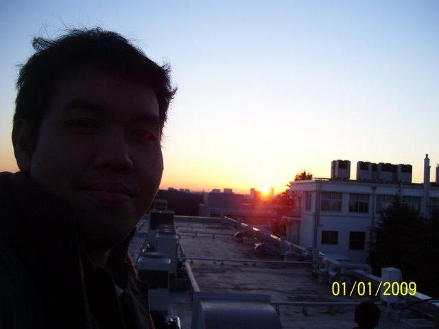 Matahari terbit pertama kali di tahun 2009